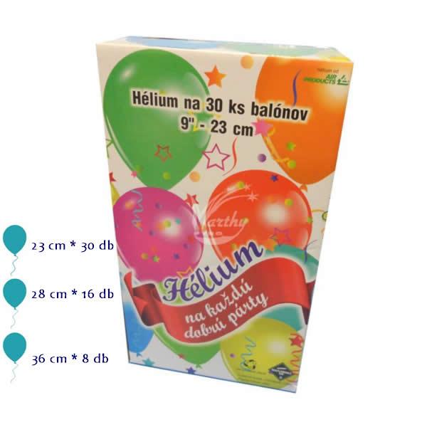 Hélium palack 12.1 Liter