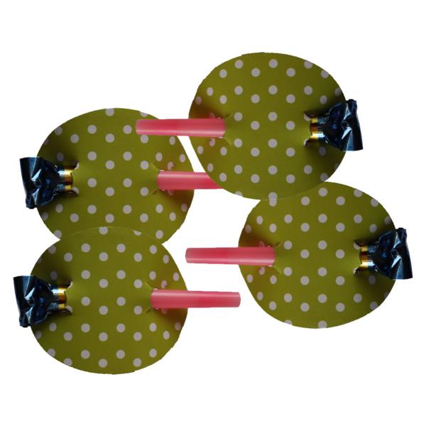 Anyós-nyelv, pöttyös,  zöld  4 db/cs