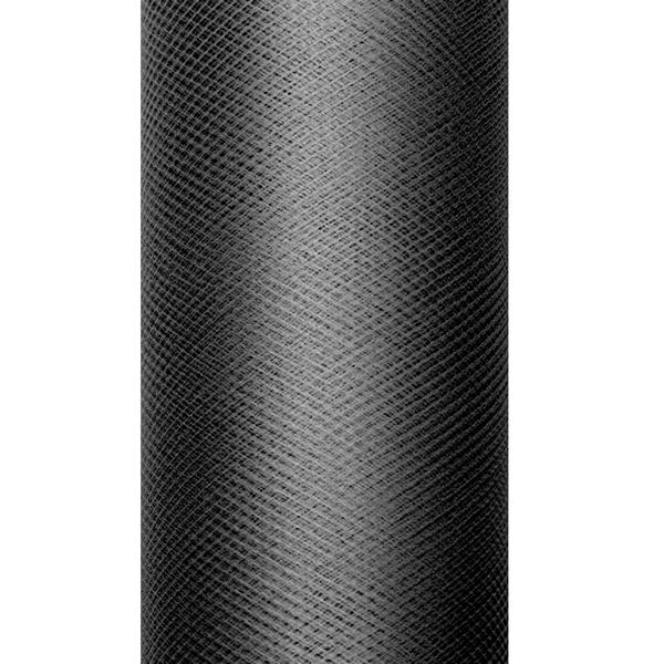 Dekoranyag, tüll, 30CM, 9M, fekete