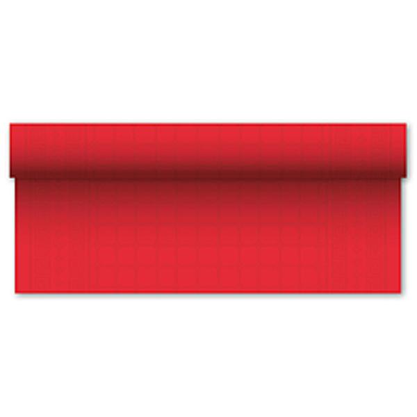 Asztalterítő,  papír , piros , 7mx1,2m
