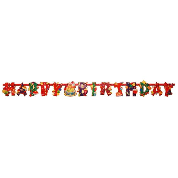 Happy birthday - fűzér -édességes