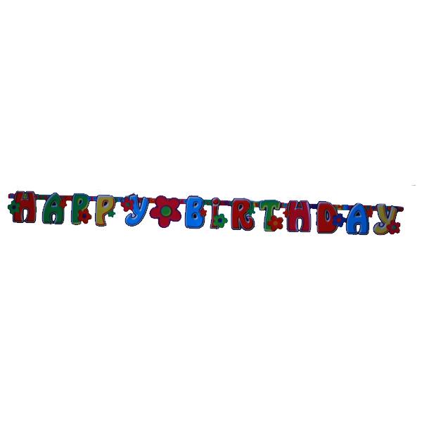 Happy birthday - fűzér -virágos