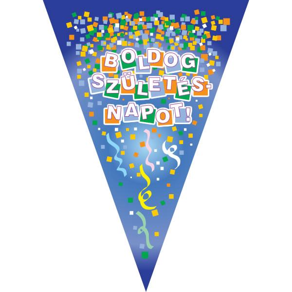 Boldog születésnapot zászló, kék