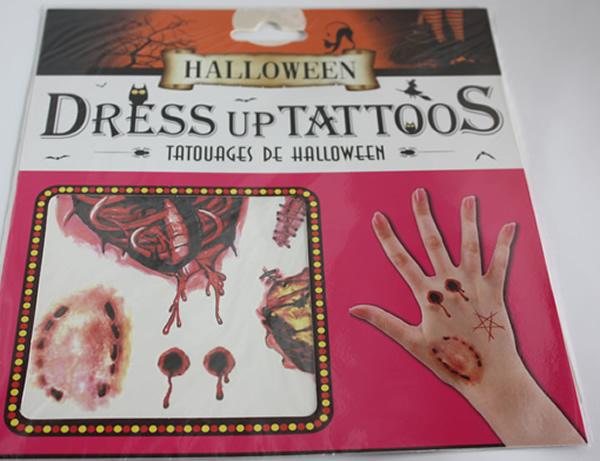 Halloween tetoválás, harpaás
