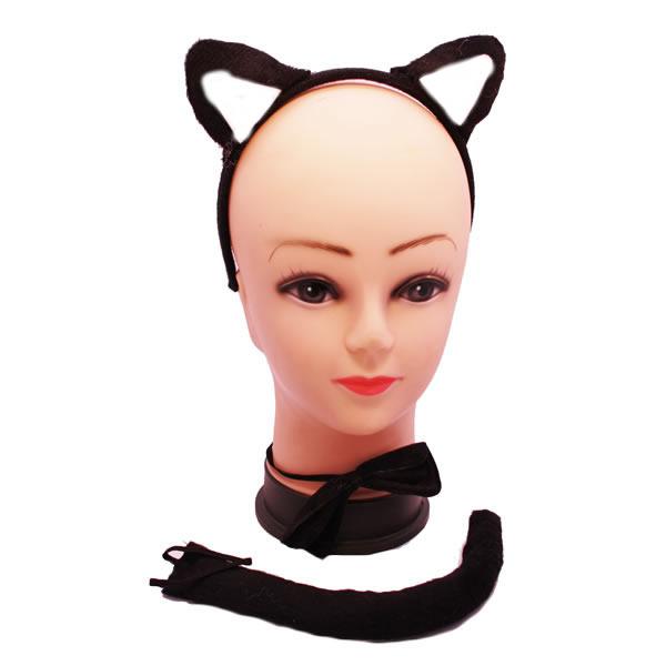 b3438f0986 Fekete macska szett 3 db-os - Jelmez kiegészítők - Farsang ...