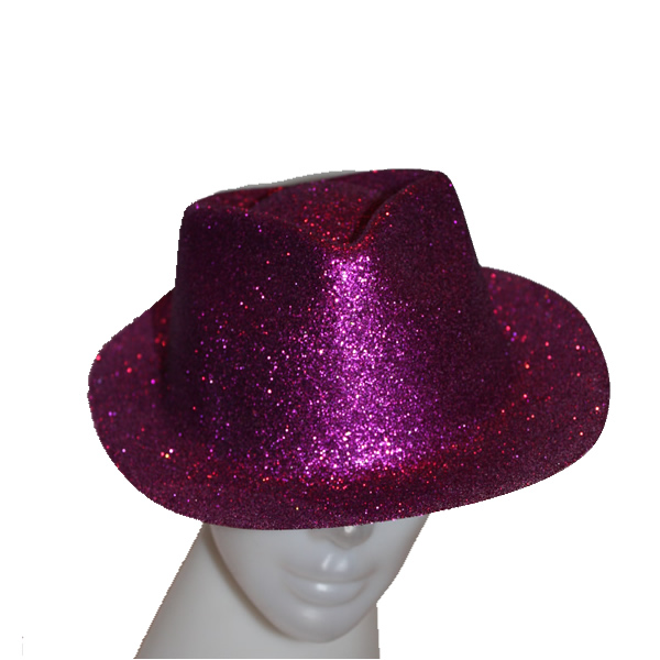 Glitteres úri kalap lila