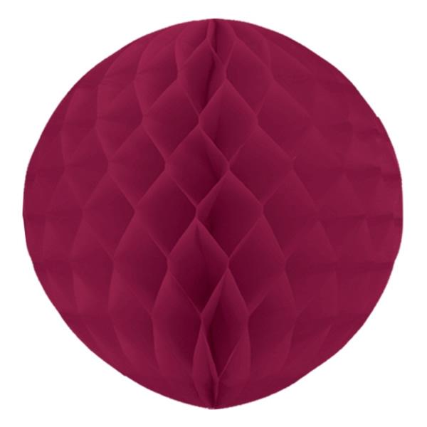 Gömb lampion 30 cm,  bordó
