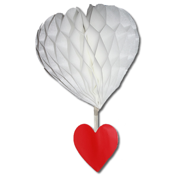 Szív lampion 15+9 cm