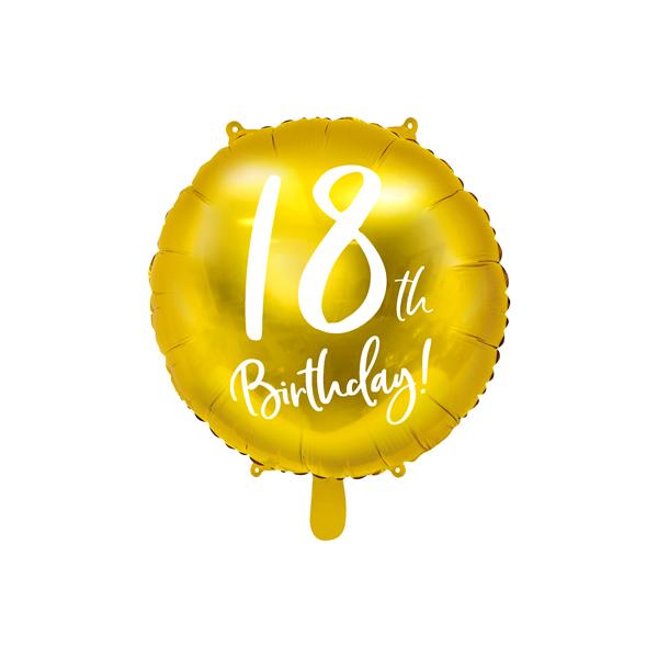 18. Évszámos lufi, fólia, happy b.