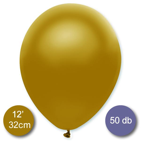 Lufi (metál) arany, 32cm, 100 db/cs