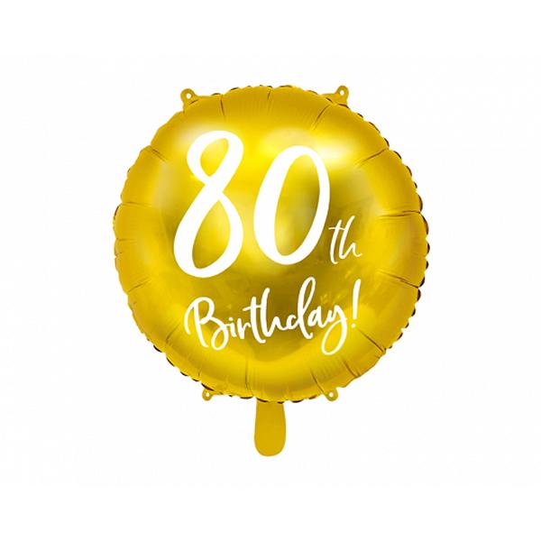 80. Évszámos lufi, fólia, happy b, 18