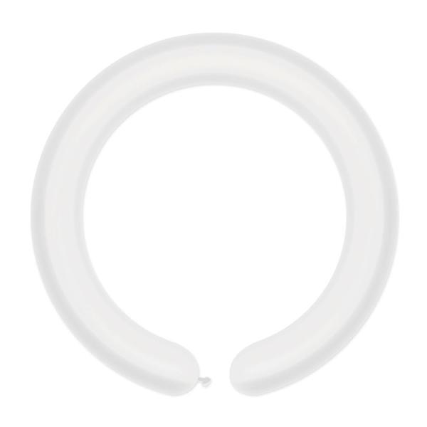 Cső (modellező) lufi, fehér, D2, 100 db/cs