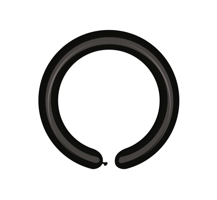Cső (modellező) lufi, fekete, D4, 100 db/cs