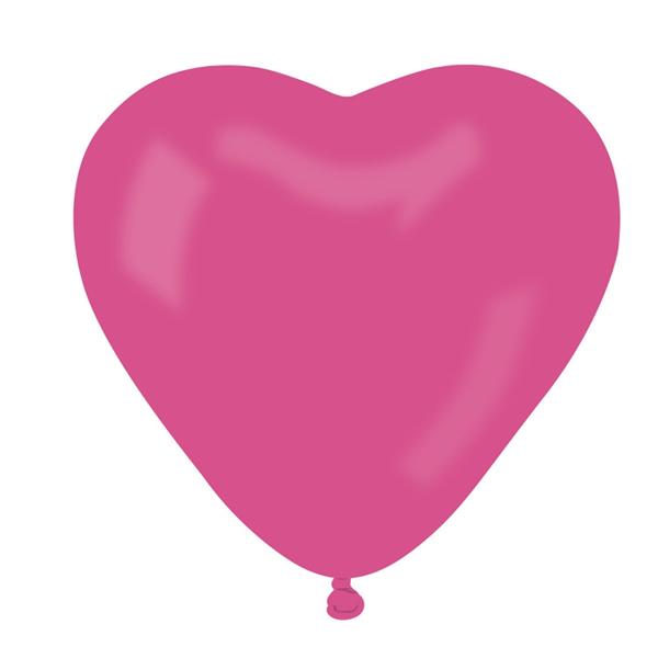 Lufi szív alakú, pink 10 db/cs