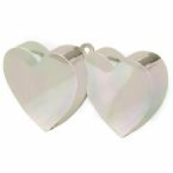Lufisúly  páros szív, gyöngyház  színű