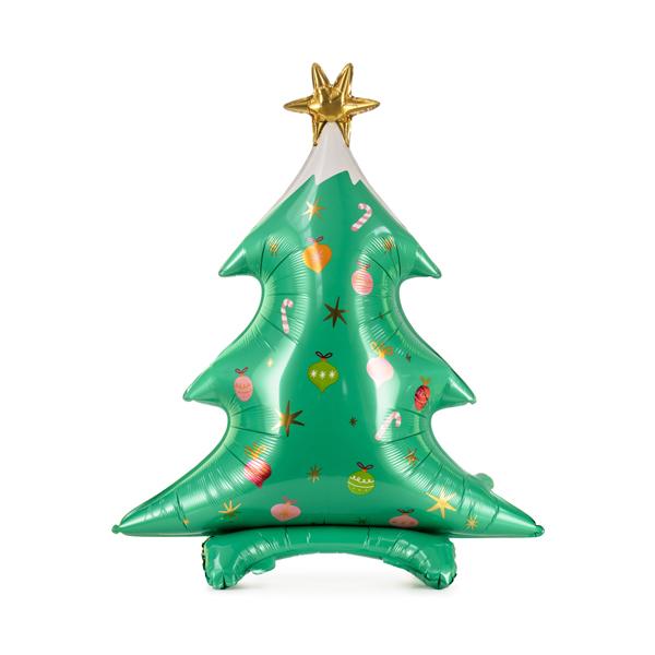 Lufi, fólia, karacsonyfa alakú matt színben, 78X94 cm