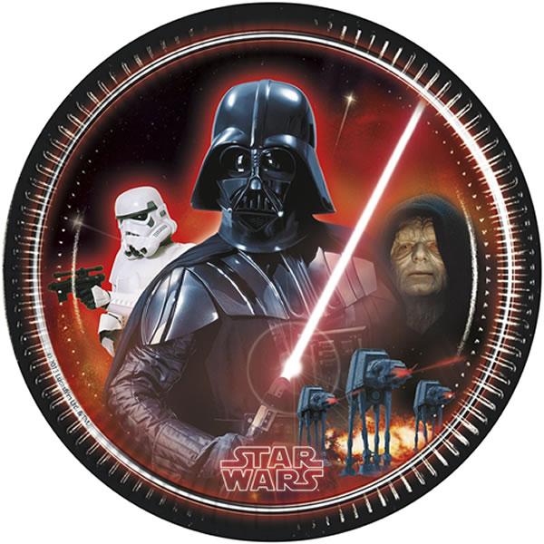 Star Wars Heroes, papírtányér, 23 cm, 8 db/cs