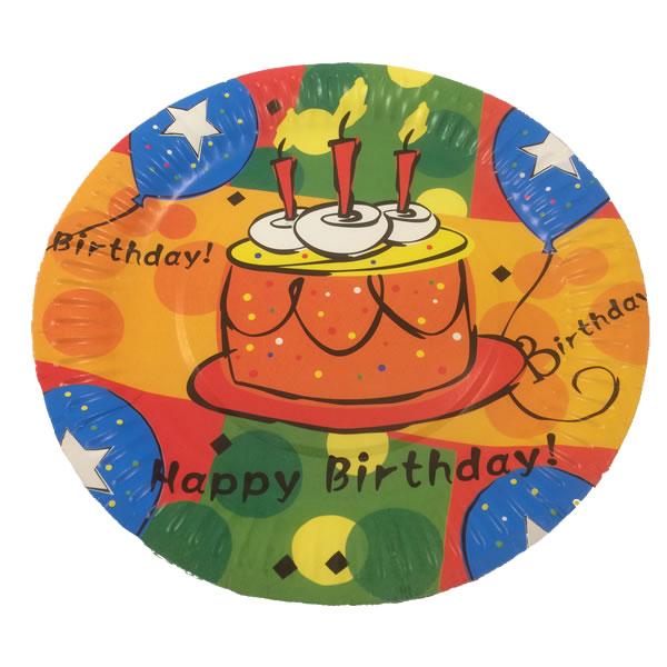 Papír tányér - tortás  10 db/cs