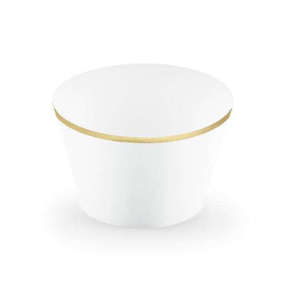 Muffin tartó, fehér, papír, 6db/cs