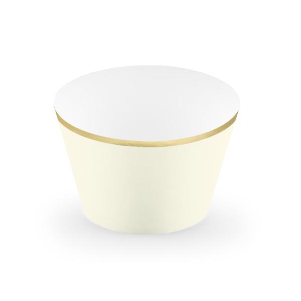 Muffin tartó, krém, papír, 6db/cs