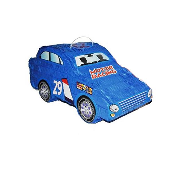 Pináta, kék versenyautó, 50X20X25 cm