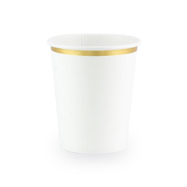 Party pohár, fehér,  6db/cs, 260 ml