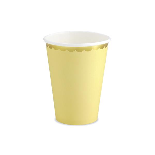 Party pohár, pasztel sárga, 220ml, 6db/cs