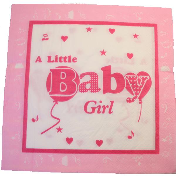 Papír szalvéta 20 db/cs,  Baby girl