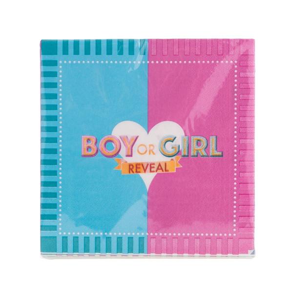 BOY OR GIRL szalvéta, 20 db, 33x33 cm