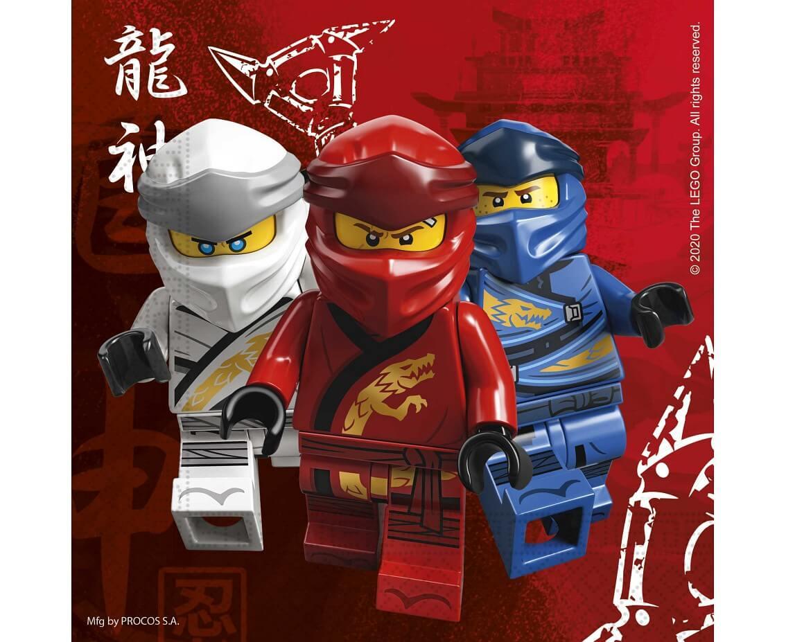 Papír szalvéta, Lego Ninjago, 16 db/csomag