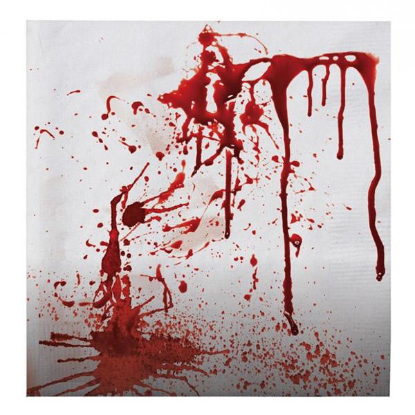 Szalvéta, véres kéz, 33x33cm, 20 darab/csomag