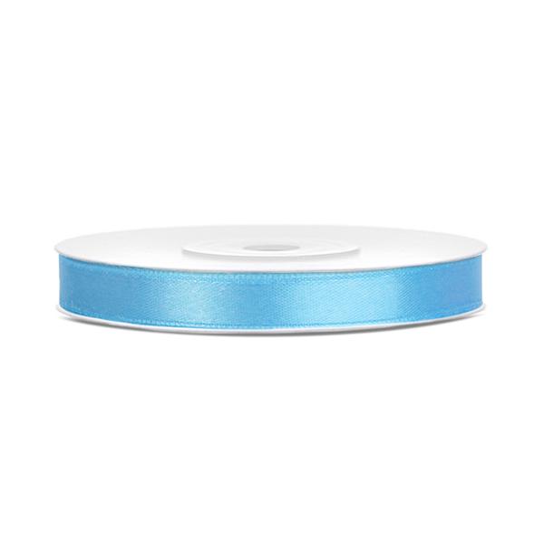 Dekor szaténszalag, ég kék, 6mm/25m
