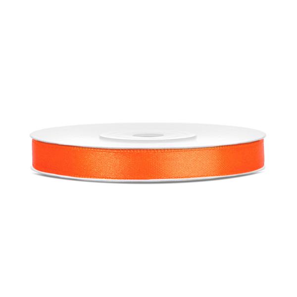 Dekor szaténszalag, narancs, 6mm/25m