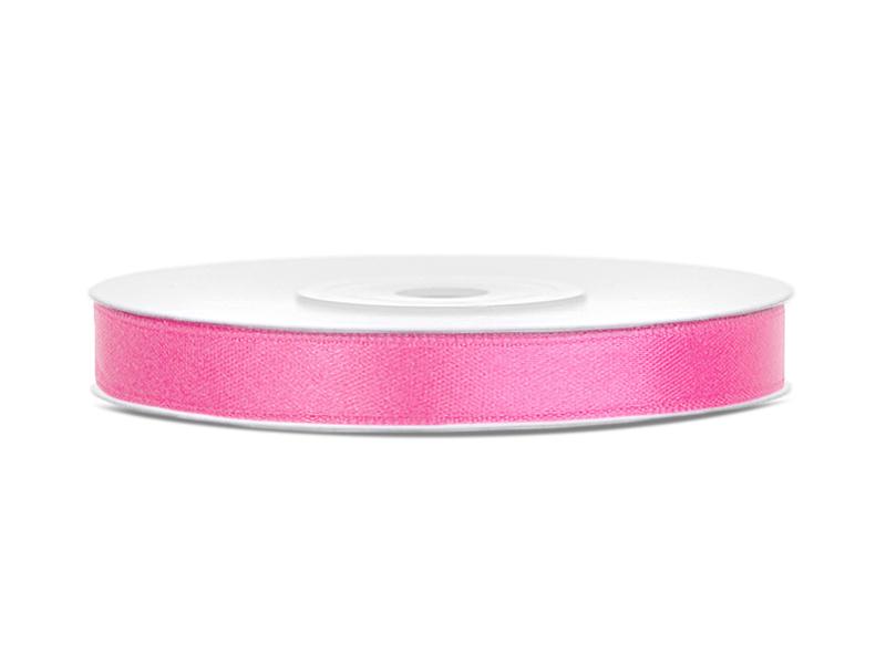 Dekor szaténszalag, pink, 6mm/25m