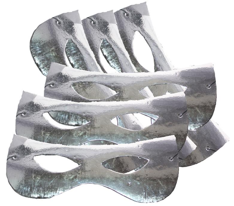 Papírszemüveg, fényes, ezüst, 6 db/cs