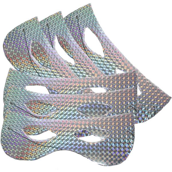 Papírszemüveg, hologramos, ezüst, 6 db/cs
