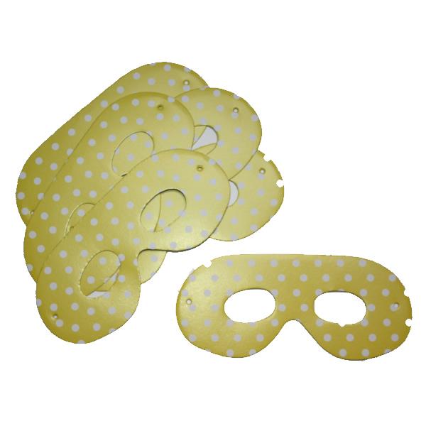 Papírszemüveg, pöttyös, sárga, 6 db/cs