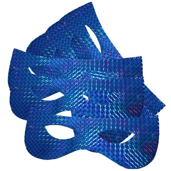Papírszemüveg, hologramos, kék, 6 db/cs